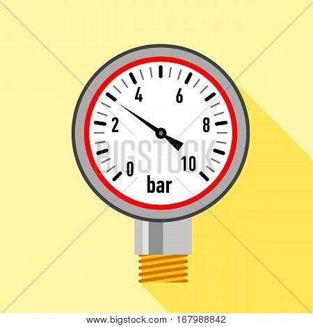 Manometer icon. Flat illustration of manometer vector icon for web design