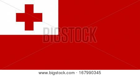 Illustration of the national flag of Tonga