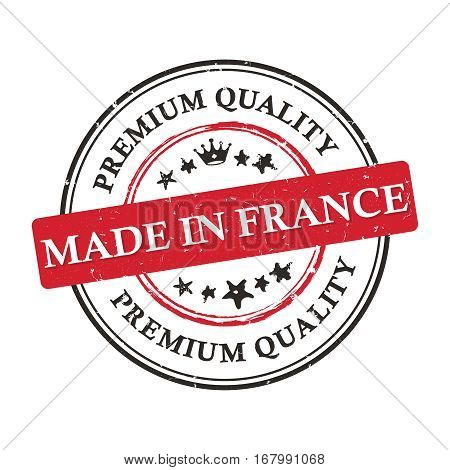 Made in France, Premium Quality printable business grunge label / stamp.  Print colors used