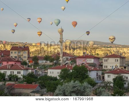 Cappadocia - Turkey - May 02, 2016 Hot Air Balloon Over Cappadocia, Turkey