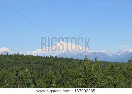 Beautiful Mount Mckinley in Alaska on a very clear day