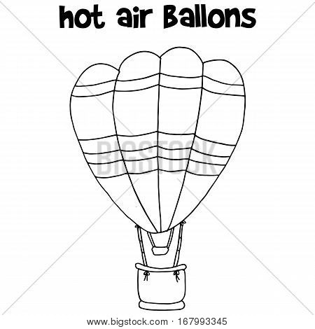 Hot air balloon vector art collection stock