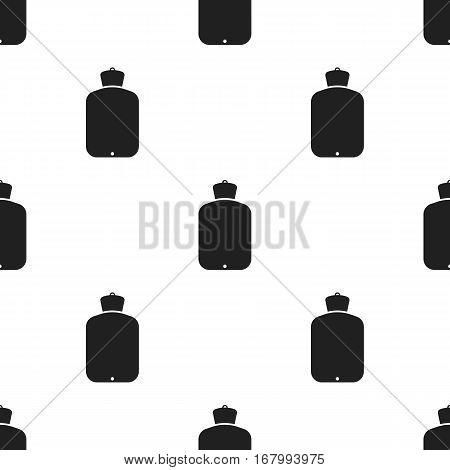 Warmer icon in black style isolated on white background. Medicine and hospital pattern vector illustration.