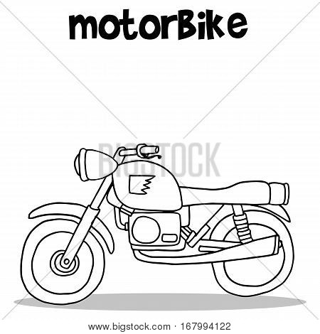 Motorbike vector art illustration collection hand draw