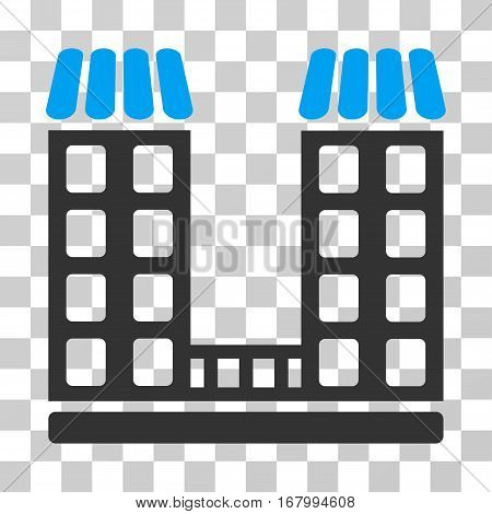 Company icon. Vector illustration style is flat iconic bicolor symbol, blue and gray colors, transparent background. Designed for web and software interfaces.