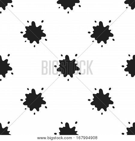 Stain icon black. Single bio, eco, organic product icon from the big milk black. - stock vector