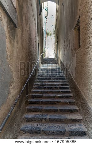 Alley And Steps In Portovenere In The Ligurian Region Of Italy