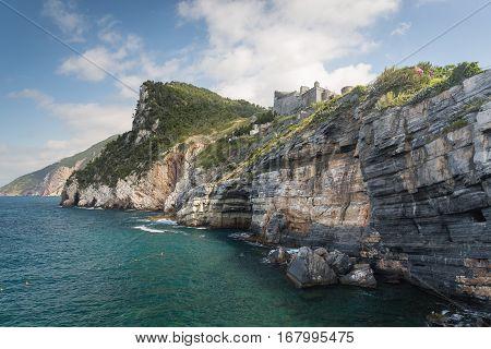 The Coastline From Portovenere In The Ligurian Region Of Italy