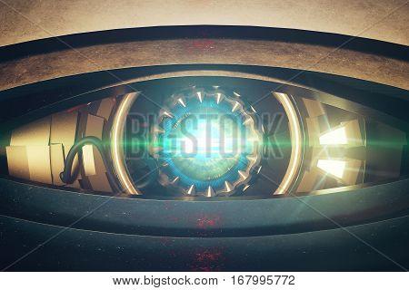 Blue Cyber Eye Front