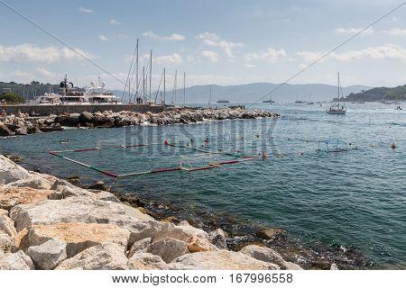 Water Polo In Portovenere In The Ligurian Region Of Italy