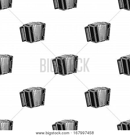 Accordion icon in black style isolated on white background. Oktoberfest pattern vector illustration.