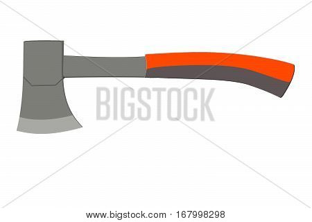flat gray icon with an ax without a background.   workhouse equipment
