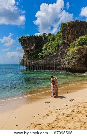 INDONESIA BALI - APRIL 18: Wedding in Balangan Beach on April 18, 2016 in Indonesia Bali.