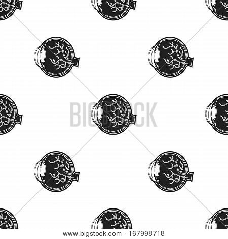 Eyeball icon in black style isolated on white background. Organs pattern vector illustration.