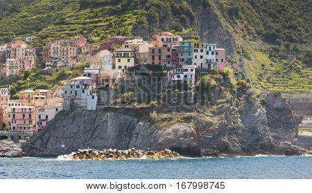 The Village Of Manarola Of The Cinque Terre