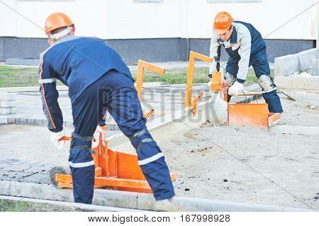 sidewalk pedestrian pavement construction works