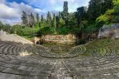 Greek Theater built for the 1929 Barcelona International Exposition. This amphitheater was built according to the traditional Greek model in Park de Montjuic. poster