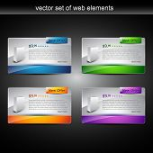 web product display item vector poster