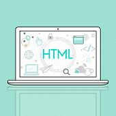 HTML HTTP Web Design Homepage Icon poster