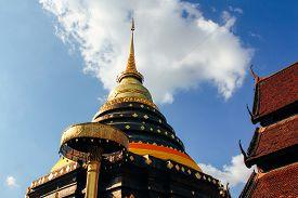 Phra That Lampang Luang Thai Lanna Styled Pagoda in Lampang Thailand