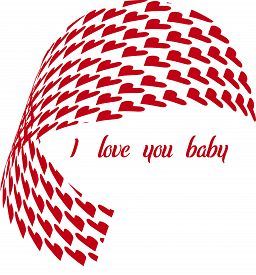 I love you baby-heart Valentine's Day gift