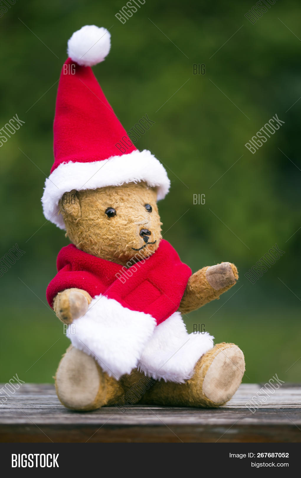 876d821888e03 Happy Christmas Toy Teddy Bear Wearing Red Santa Hat - Gift For Children