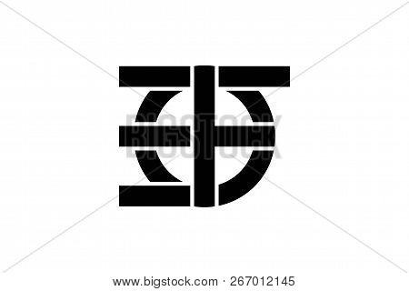 Letter E F Monogram Logo Designs Inspiration Isolated On White Background