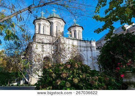 Bucharest, Romania - November 04, 2018: Radu Voda Monastery Dedicated To Saint Nectarios Of Aegina A