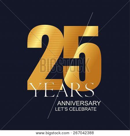 25 Years Anniversary Vector Icon, Symbol, Logo. Graphic Design Element For 25th Anniversary Birthday