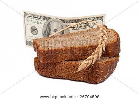 Dollar with slice bread