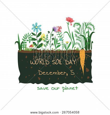 Creative Vector Abstract For World Soil Day With Nice And Creative Design Illustration In A Backgrou