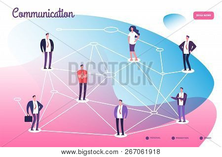 Network Connecting Professional People. Global Communication Teamwork Connection And Networking Tech