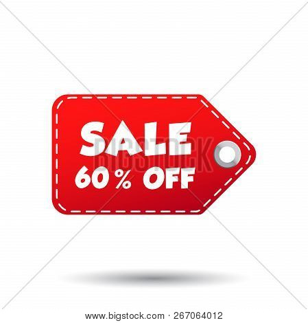 Sale 60 Off Tag. Label Vector Illustration On White Background