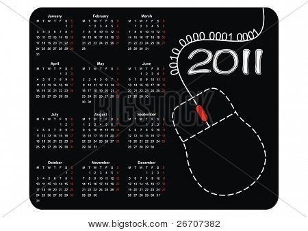 Calendar mousepad 2011