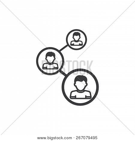 Social Network Vector Icon On White Background. Social Network Icon In Modern Design Style. Social N