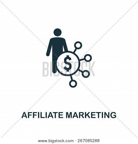 Affiliate Marketing Icon. Premium Style Design From Advertising Icon Collection. Ui And Ux. Pixel Pe
