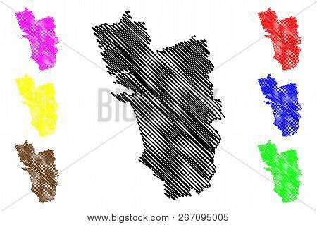 Goa (states And Union Territories Of India, Federated States, Republic Of India) Map Vector Illustra