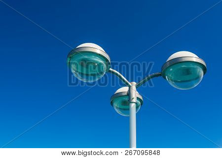 Lantern On A Cruise Ship On The North Sea.