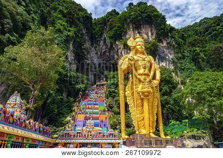 Very Beautiful Batu Cave In Malaysia, A Temple Of Hinduism In South Asia.