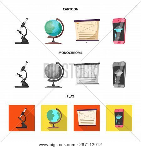 Isolated Object Of Education And Learning Sign. Set Of Education And School Vector Icon For Stock.