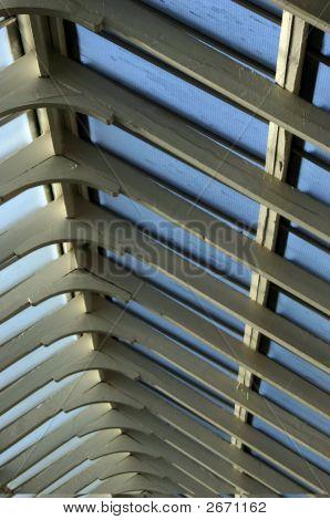 Sky Lights At The Glasgow, Scotland Train Station