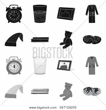 Isolated Object Of Dreams And Night Symbol. Set Of Dreams And Bedroom Vector Icon For Stock.