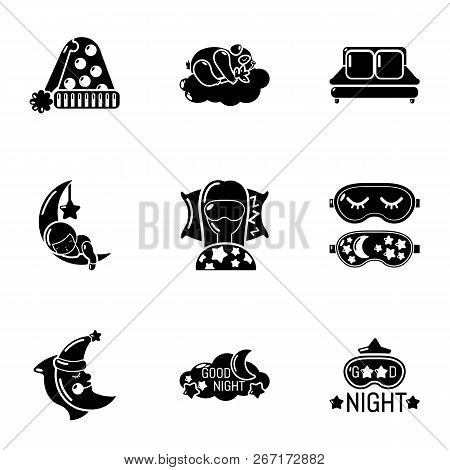 Deep Slumber Icons Set. Simple Set Of 9 Deep Slumber Vector Icons For Web Isolated On White Backgrou