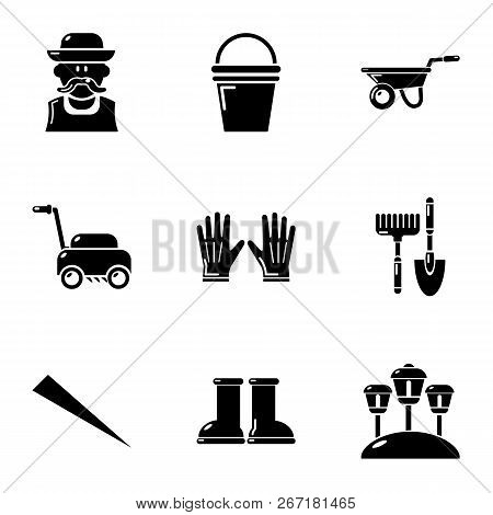 Lawn Icons Set. Simple Set Of 9 Lawn Vector Icons For Web Isolated On White Background