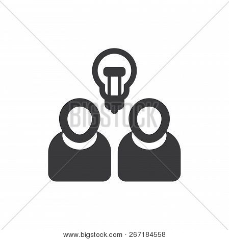 Brainstorming Vector Icon On White Background. Brainstorming Icon In Modern Design Style. Brainstorm