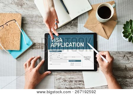 Online Visa Application Form On Screen. Country Visit Permit.