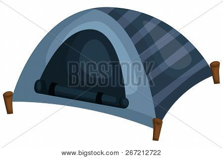 A Vector Of A Blue Colored Tent