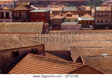 Roof Tops In Porto, Portugal