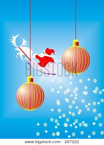 Two Red Christmas Ball