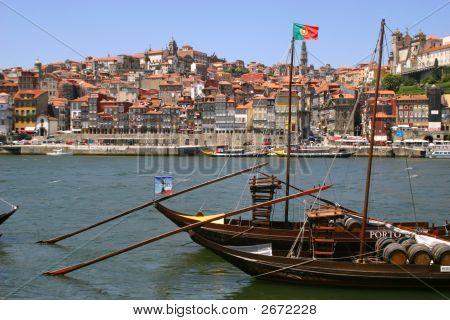 Sail Boat In Porto, Portugal